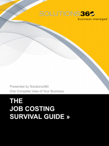 Job Costing Survival Guide 2020